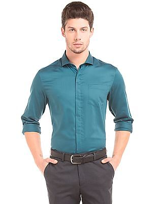 Elitus Concealed Placket Sateen Shirt
