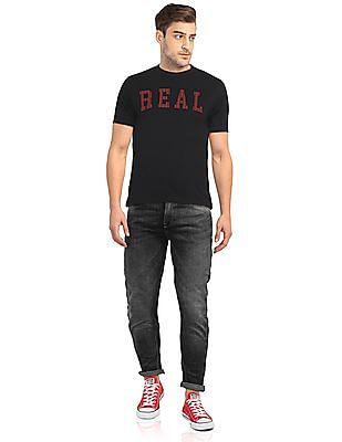 Colt Black Short Sleeve Printed T-Shirt