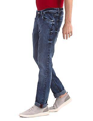 Arrow Sports Blue James Slim Fit Washed Jeans