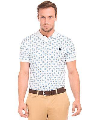 U.S. Polo Assn. Moroccan Print Slim Fit Polo Shirt