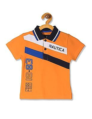 b0dc669fca Buy Boys Boys Short Sleeve Diagonal Stripe Polo Shirt online at ...