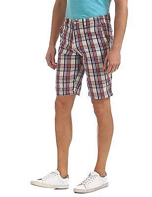 Bayisland Check Cotton Shorts