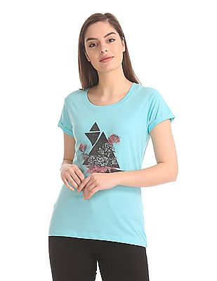 Cherokee Abstract Printed T-Shirt