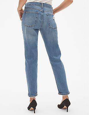 GAP Blue Mid Waist Best Girlfriend Jeans