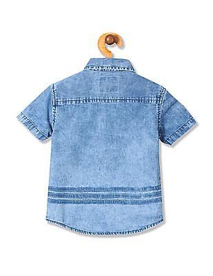 Cherokee Boys Washed Denim Shirt