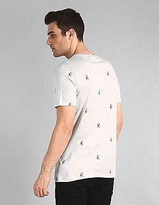 GAP Heathered Printed T-Shirt