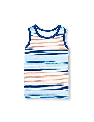 The Children's Place Toddler Boy PLACE Sport Sleeveless Striped Tank Top