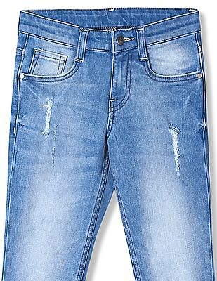 FM Boys Boys Skinny Fit Distressed Jeans
