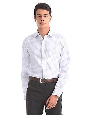 Arrow Regular Fit Patterned Check Shirt