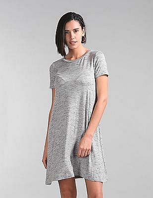 be79fc36374 Buy Women Heathered T-Shirt Dress online at NNNOW.com