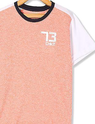 Cherokee Orange Boys Colour Block Active T-Shirt