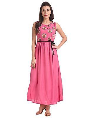 Bronz Printed Maxi Dress