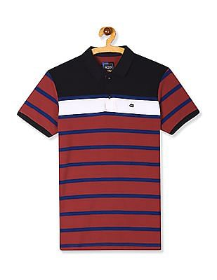 Roots by Ruggers Red Striped Pique Polo Shirt