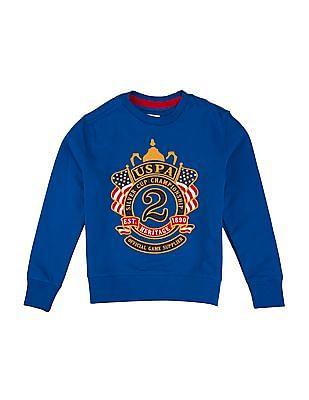 U.S. Polo Assn. Kids Boys Embroidered Regular Fit Sweatshirt