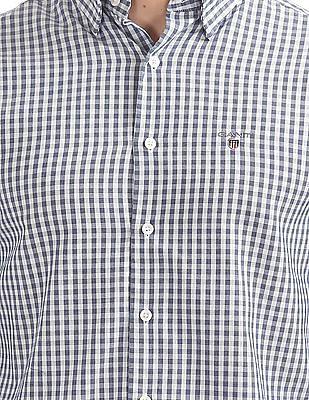 Gant Tech Prep Oxford Gingham Regular Hidden Button Down Shirt