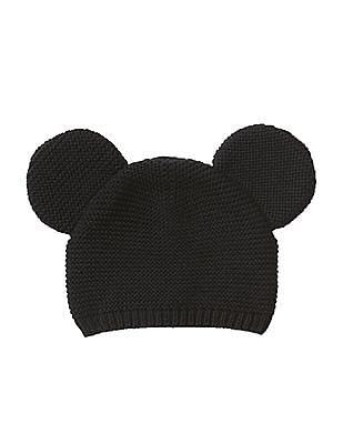 GAP Baby Black Disney Mickey Mouse sweater hat