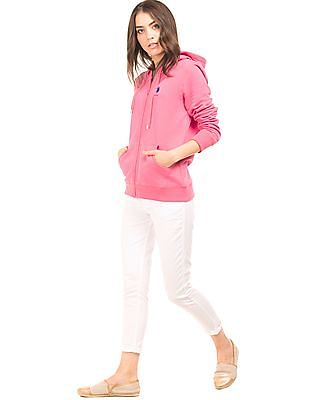 U.S. Polo Assn. Women Solid Regular Fit Sweatshirt