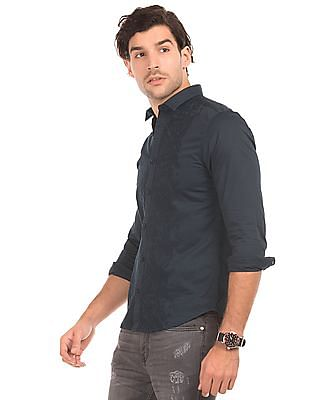 Ed Hardy Embroidered Slim Fit Shirt