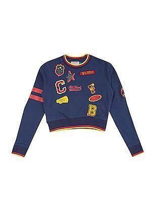Cherokee Girls Printed Applique Sweatshirt