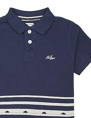 FM Boys Boys Printed Slim Fit Polo Shirt