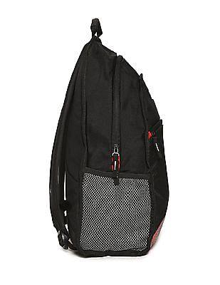 Flying Machine Black Patterned Laptop Backpack