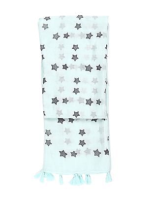 SUGR Green Star Print Stole