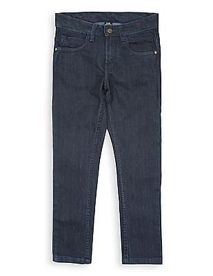 FM Boys Slim Fit Dark Wash Jeans