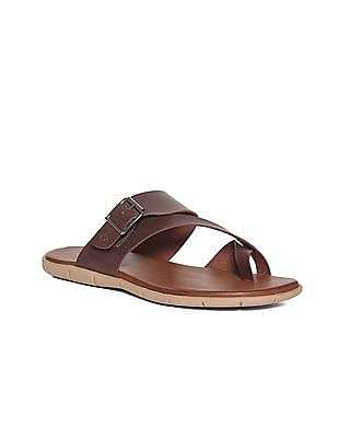Arrow Cross Strap Solid Sandals