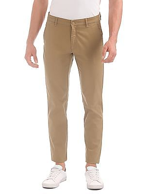 Izod Slim Fit Flat Front Trousers