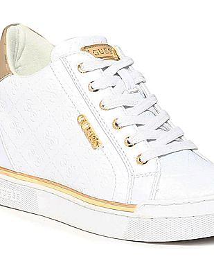 GUESS Debossed Logo Mid Top Sneakers