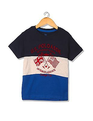 U.S. Polo Assn. Kids Boys Graphic Print T-Shirt