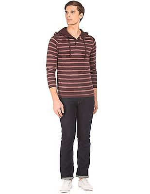 Aeropostale Hooded Striped T-Shirt