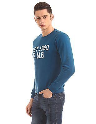 Flying Machine Slim Fit Appliqued Sweatshirt