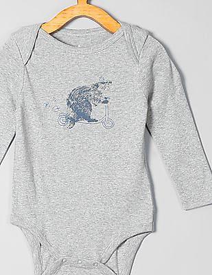 GAP Baby Grey Critter Bodysuit