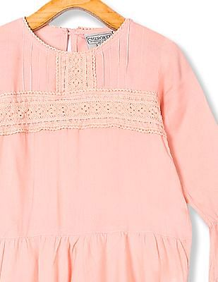 Cherokee Girls Lace Accent Woven Tunic