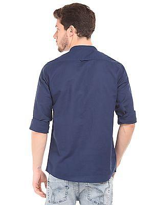 Cherokee Mandarin Collar Contemporary Fit Shirt