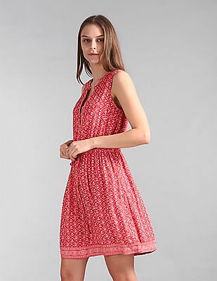 GAP Floral Print Fit And Flare Dress