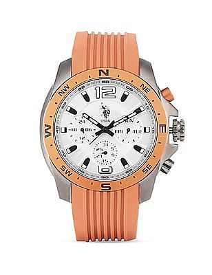U.S. Polo Assn. Silicone Strap Chronograph Watch