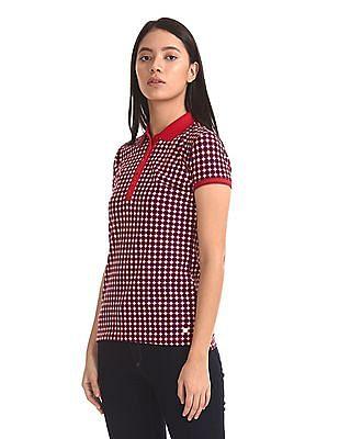 U.S. Polo Assn. Women Printed Polo Shirt