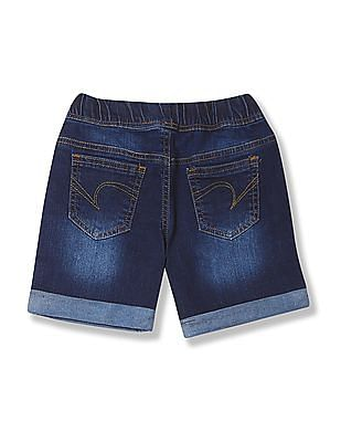 Cherokee Boys Drawstring Waist Denim Shorts