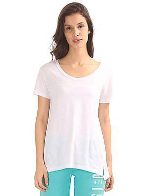 Aeropostale Round Neck Slubbed T-Shirt
