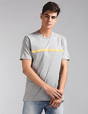 GAP Men Grey Original Logo Crewneck T-Shirt