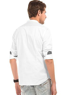 Flying Machine Solid Popover Shirt
