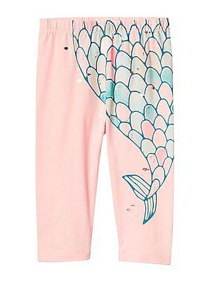 GAP Baby Pink Mermaid Stretch Jersey Leggings