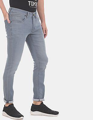 Flying Machine Men Blue Jackson Skinny Fit Low Waist Jeans