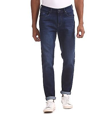 Arrow Blue Jeans Company Blue Dark Wash Mid Waist Jeans