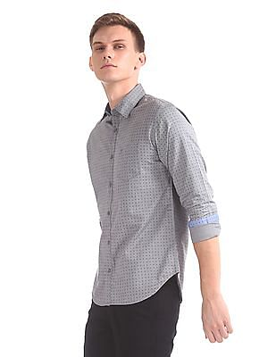 Roots by Ruggers Contrast Print Poplin Shirt