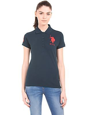 ffb8abedd Buy Women Regular Fit Pique Polo Shirt online at NNNOW.com