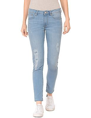 Aeropostale Low Rise Rip And Repair Jeans