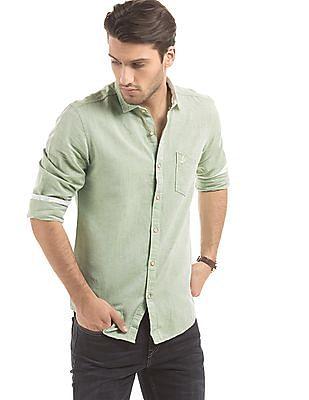 Bayisland Slim Fit Cotton Linen Shirt